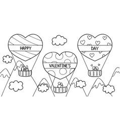 love hot air balloon vector image