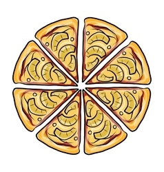 Pieces of pizza sketch for your design vector image vector image