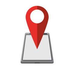 smartphone pin map location gps vector image