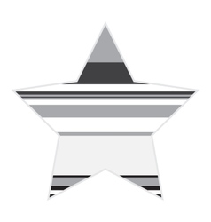Striped Black And White Star Icon vector image
