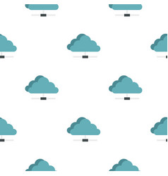 Cloud network connection pattern seamless vector