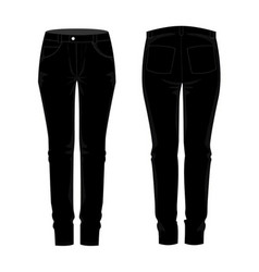 Ladies traousers jean template mock up vector