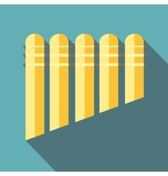 Pan flute icon flat style vector image vector image