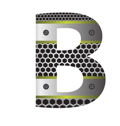 Perforated metal letter b vector