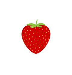 simple strawberry icon vector image