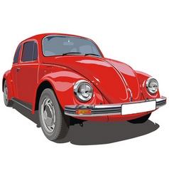 VW beetle car vector image vector image