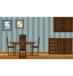 A dinning table and a wardrobe vector image vector image