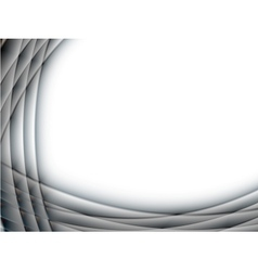 abstract glass metal frame vector image vector image
