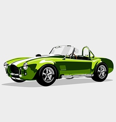 Classic sport green car AC Shelby Cobra Roadster vector image vector image