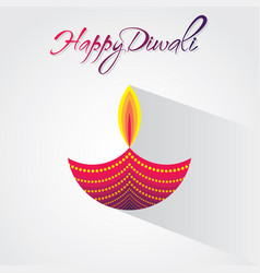 creative happy diwali greeting design vector image vector image
