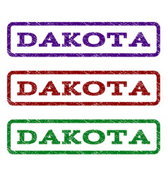 dakota watermark stamp vector image vector image