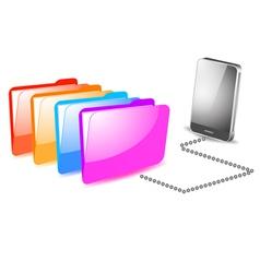 Folder management on mobile vector image vector image