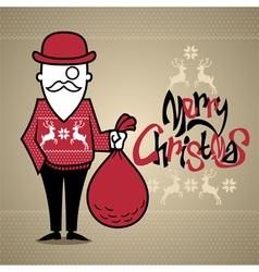 Hipster Santa vector image vector image