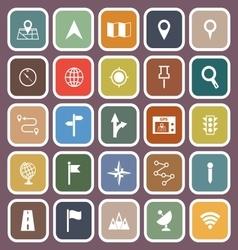 Navigation flat icons on violet background vector image