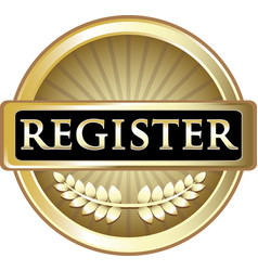 register gold icon vector image vector image