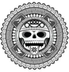 stylized deity of Aztec vector image vector image