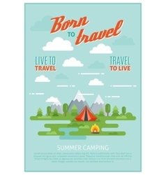 Summer Camping Poster vector image