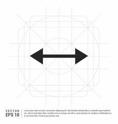 2 side arrow icon vector