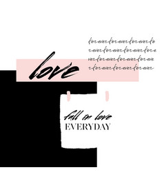 Abstract creative love collage abstract vector