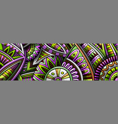 abstract ethnic rug ornamental pattern vector image