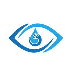 abstract eye water icon logo vector image