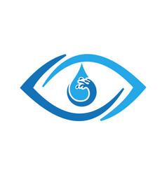 abstract eye water icon logo vector image