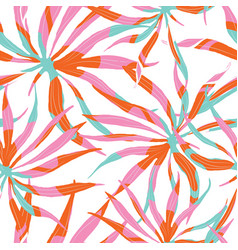 Abstract watercolor pattern with palms vector