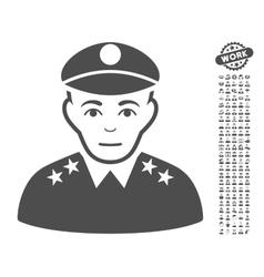 Army General Icon With Bonus vector image