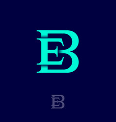B and e classic monogram combined letters vector