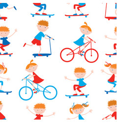 background of the sports cartoon children vector image