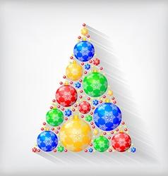 balls fir vector image