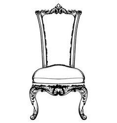 baroque luxury chair royal style decotations vector image