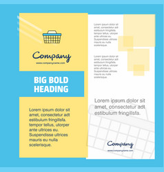 basket company brochure title page design company vector image
