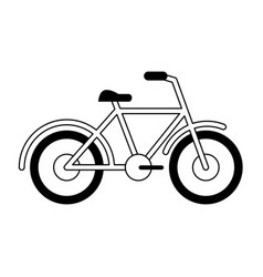 Bicycle sport vehicle isolated black and white vector