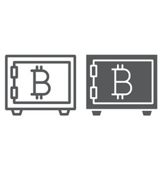 bitcoin storage line and glyph icon security vector image