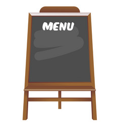 black board menu restaurant vector image