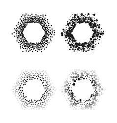 black color hexagon frames isolated on white vector image