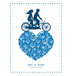 blue white lineart plants couple on tandem vector image