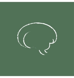 Brain icon drawn in chalk vector image