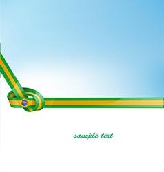 Brazil ribbon flag on background vector