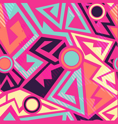 Bright geometric pattern vector
