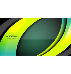 Business modern abstract green background vector