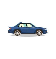 Car sedan side view transport for travel gas vector