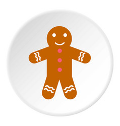 Christmas cookie icon circle vector