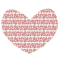 Christmas Knitted heart vector image