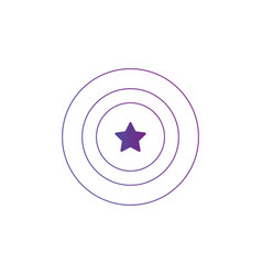 circles aim icon with star in the center isolated vector image