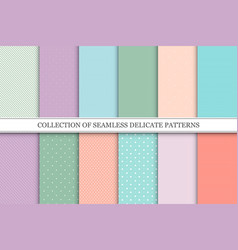 collection trendy seamless patterns with vector image