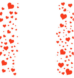 color hearts on white background chaotic vector image