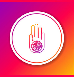 Color line symbol jainism or jain dharma icon vector