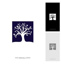 colorful tree logo design template luxury tree vector image